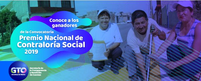 Premio Nacional de Contraloría Social 2019